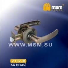 Ручка защелка (фалевая) MSM Z102-M Цвет: AC - Медь
