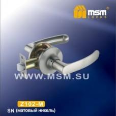 Ручка защелка (фалевая) MSM Z102-M Цвет: SN - Матовый никель
