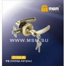 Ручка защелка (фалевая) MSM Z102-R Цвет: PB - Золото
