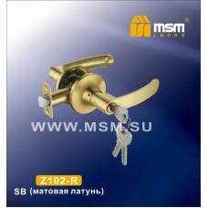 Ручка защелка (фалевая) MSM Z102-R Цвет: SB - Матовое золото