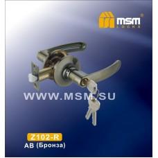 Ручка защелка (фалевая) MSM Z102-R Цвет: AB - Бронза