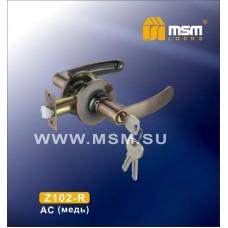 Ручка защелка (фалевая) MSM Z102-R Цвет: AC - Медь