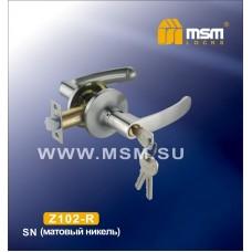 Ручка защелка (фалевая) MSM Z102-R Цвет: SN - Матовый никель