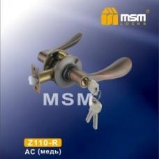 Ручка защёлка (фалевая) MSM Z110-R Цвет: AC - Медь