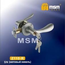 Ручка защелка (фалевая) MSM Z110-R Цвет: SN - Матовый никель