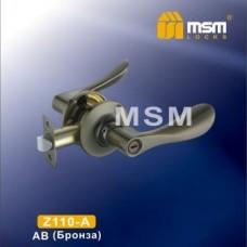 Ручка защелка (фалевая) MSM Z110-A Цвет: AB - Бронза