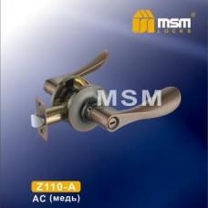 Ручка защелка (фалевая) MSM Z110-A Цвет: AC - Медь