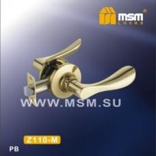 Ручка защелка (фалевая) MSM Z110-M Цвет: PB - Золото