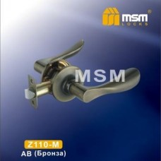 Ручка защелка (фалевая) MSM Z110-M Цвет: AB - Бронза