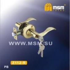 Ручка защелка (фалевая) MSM Z112-R Цвет: PB - Золото