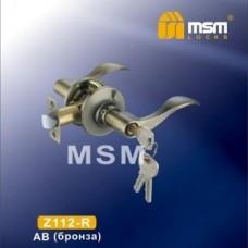 Ручка защелка (фалевая) MSM Z112-R Цвет: AB - Бронза