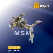 Ручка защелка (фалевая) MSM Z112-R Цвет: AC - Медь