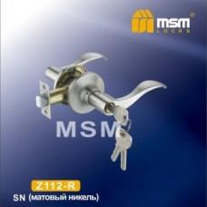 Ручка защелка (фалевая) MSM Z112-R Цвет: SN - Матовый никель