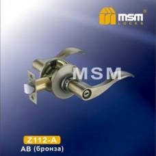 Ручка защелка (фалевая) MSM Z112-A Цвет: AB - Бронза