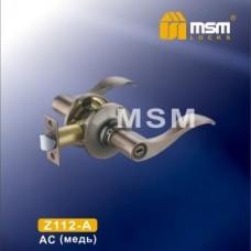 Ручка защелка (фалевая) MSM Z112-A Цвет: AC - Медь