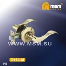 Ручка защелка (фалевая) MSM Z112-M Цвет: PB - Золото