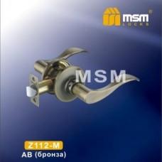 Ручка защелка (фалевая) MSM Z112-M Цвет: AB - Бронза