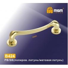 Ручка скоба MSM B424 Цвет: PB/SB - Золото/матовое золото
