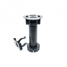 Мебельная опора пластиковая регулируемая Размер: 120 мм. Цвет:  BN - Чёрный