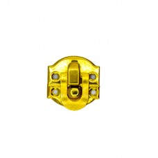 "Замок на шкатулки ""Овал"" 20*20 мм. Цвет: PB - Золото"