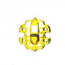 """Замок на шкатулки """"Овал фигурный"""" 28*25 мм. Цвет: PB - Золото"""